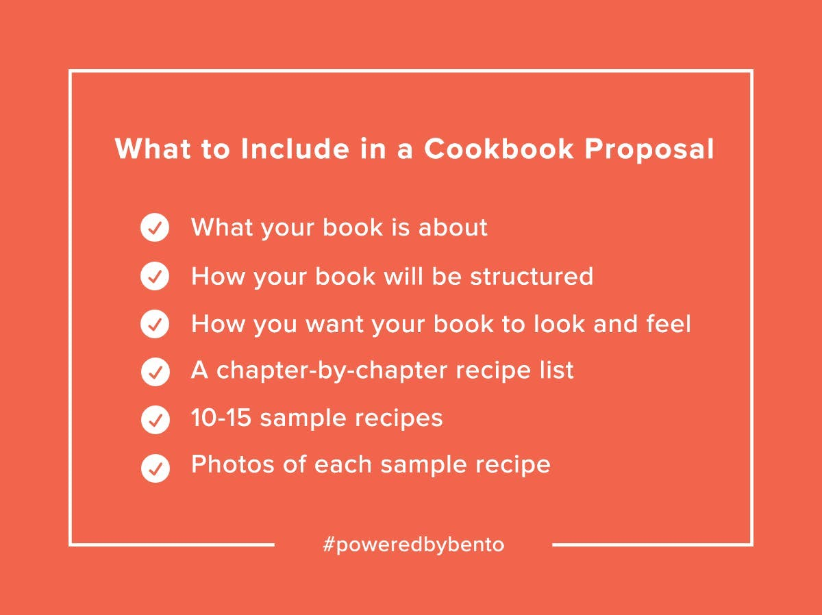 What to Include in a Cookbook Proposal
