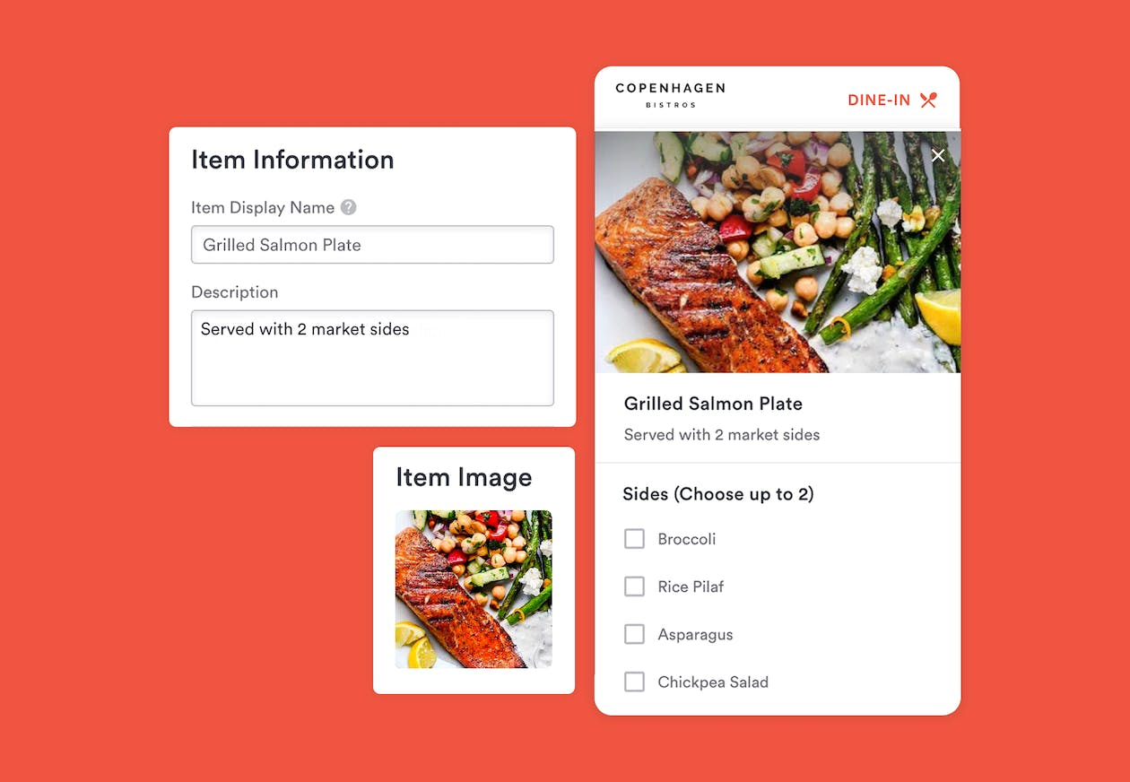 digital menu dine-in-ordering by bentobox