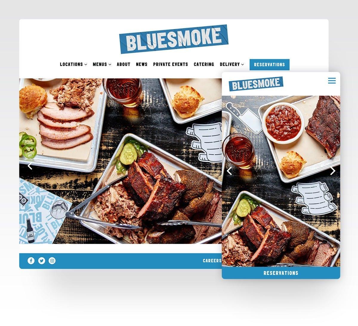 Screenshot of Blue Smoke Website