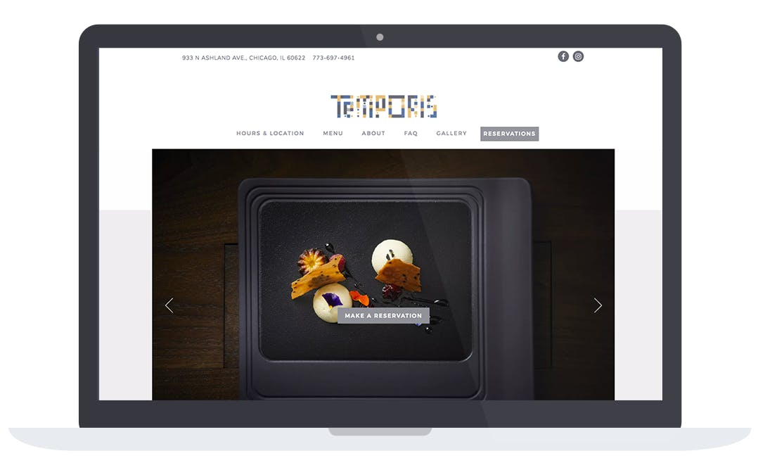 a screenshot of Temprois homepage