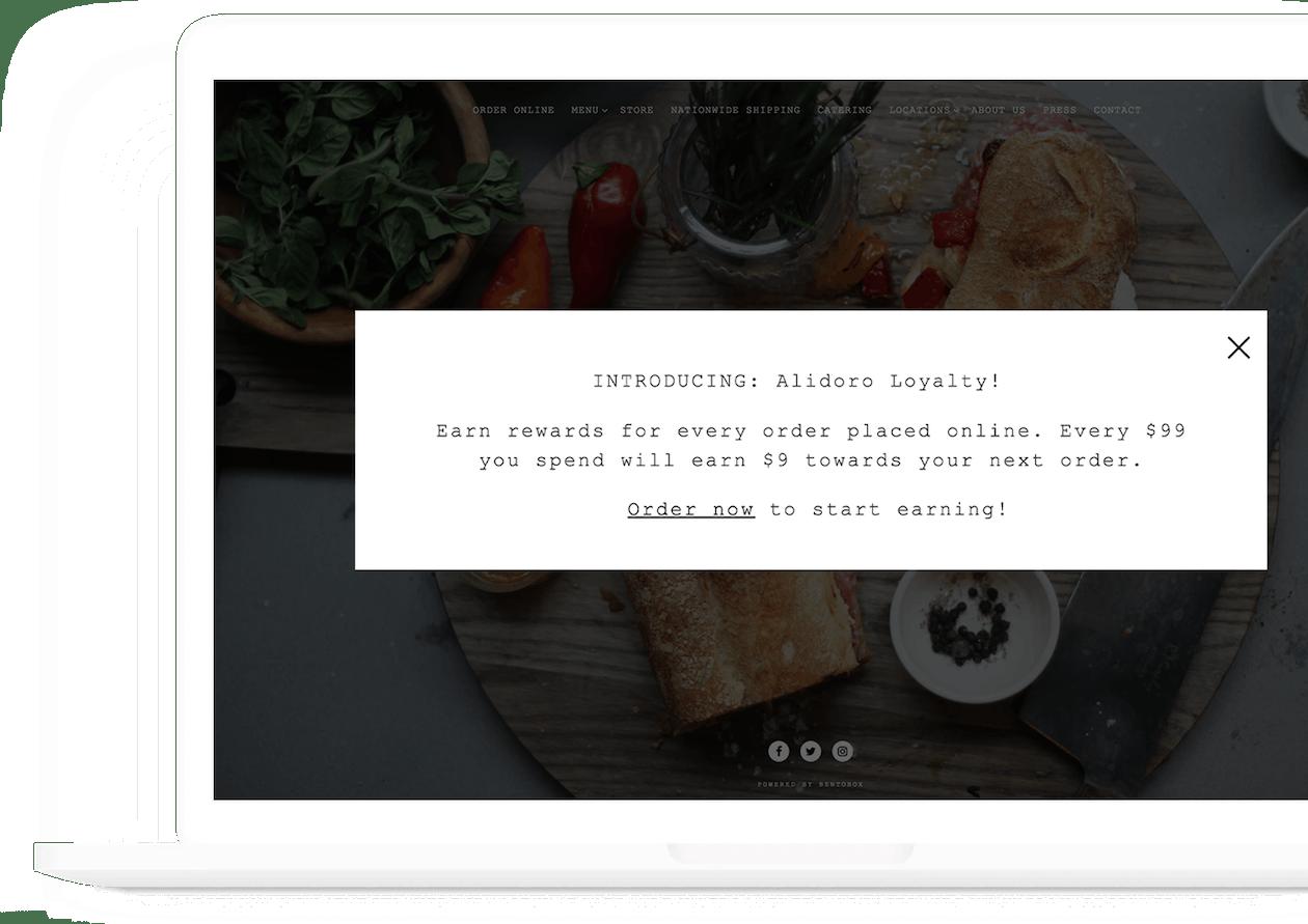 alidoro online ordering and loyalty through bentobox