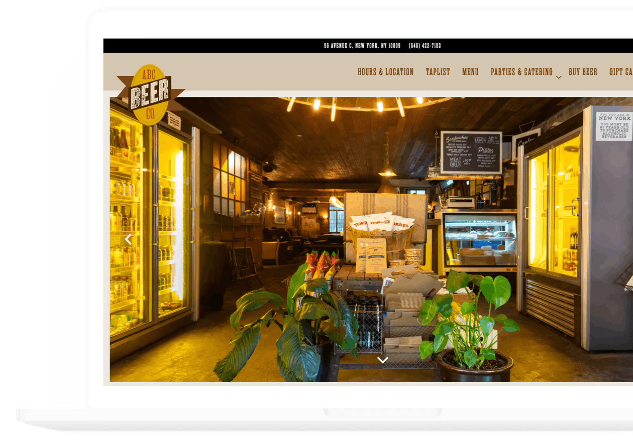 a phot of alphabet city beer co's website