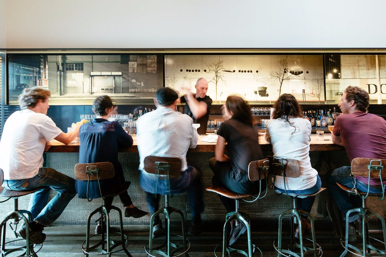 A photo of the bar at Bar Agricole.