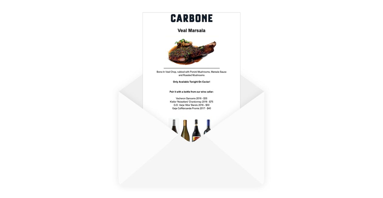 an example of an email newsletter