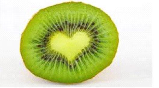 a close up of kiwi fruit