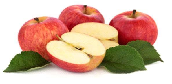 a sliced apple on a table