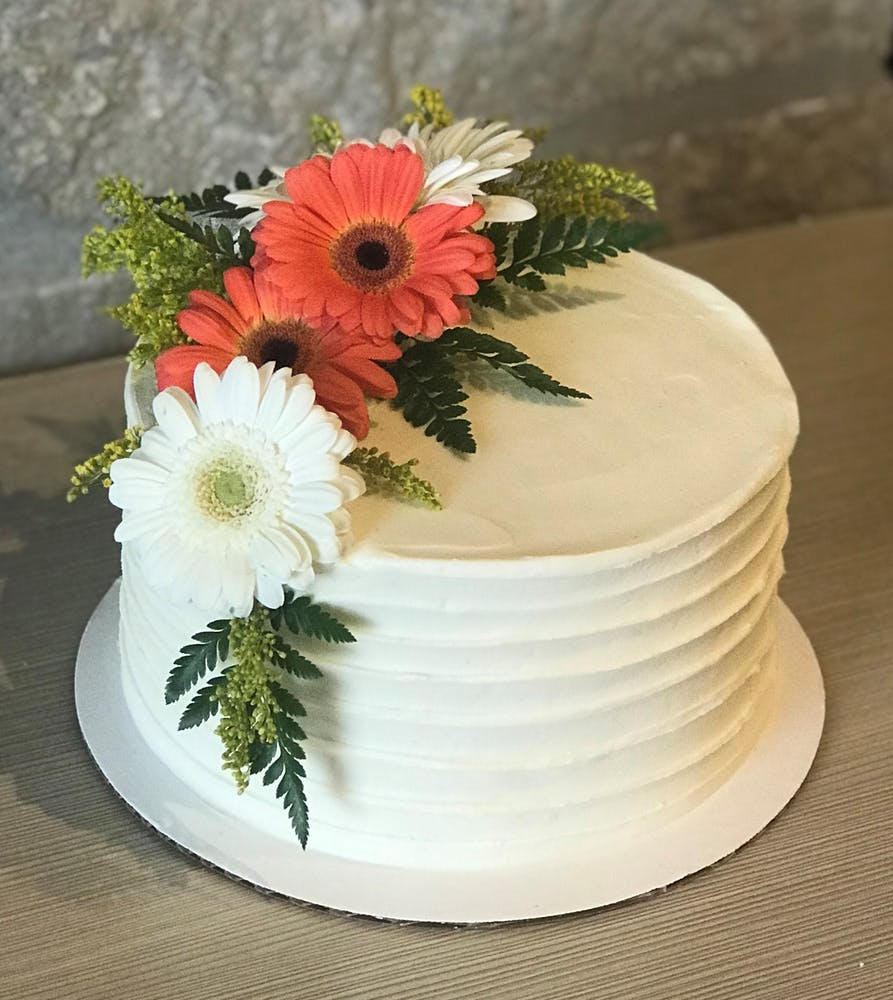 a cake made to look like a flower