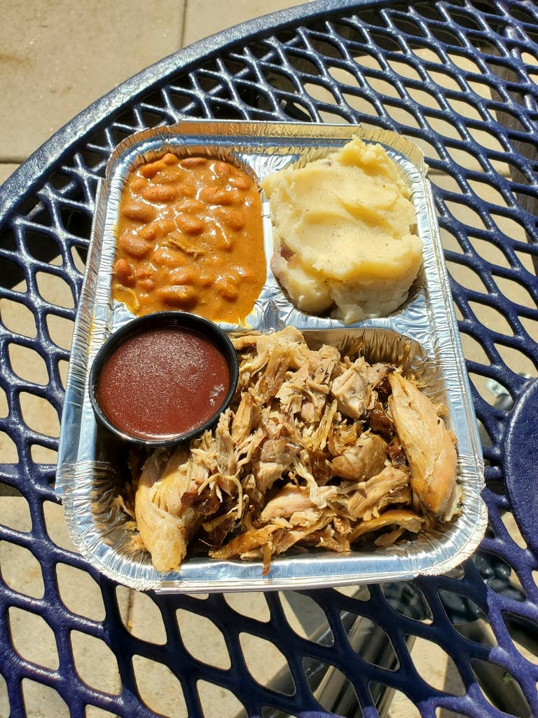 a tray of food on a plate