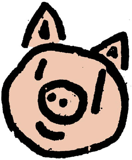a pig face drawing cartoon