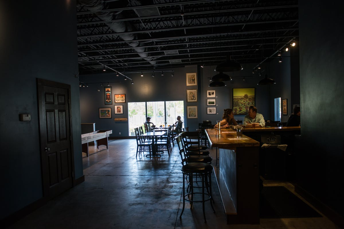 the interior of dog rose brewing