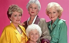 Rue McClanahan, Bea Arthur, Estelle Getty, Betty White posing for the camera