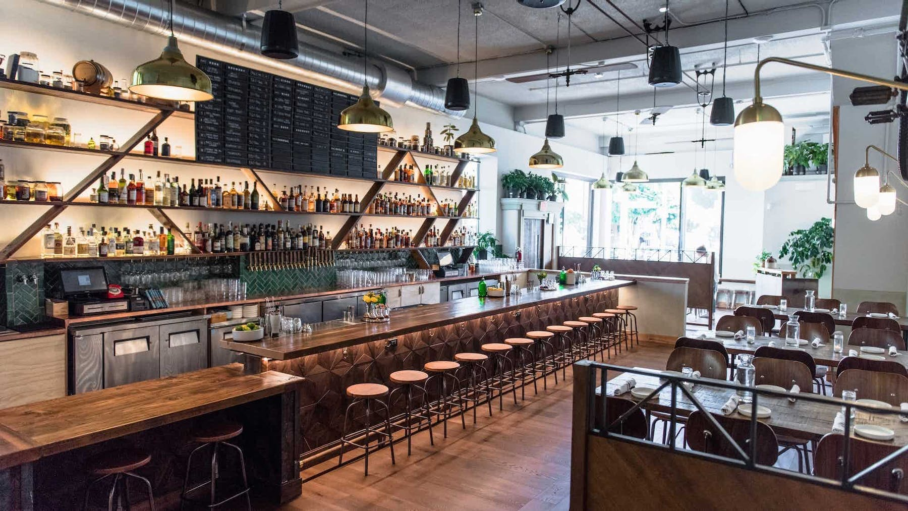 a restaurant bar
