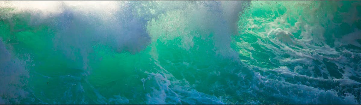 a close up of the ocean