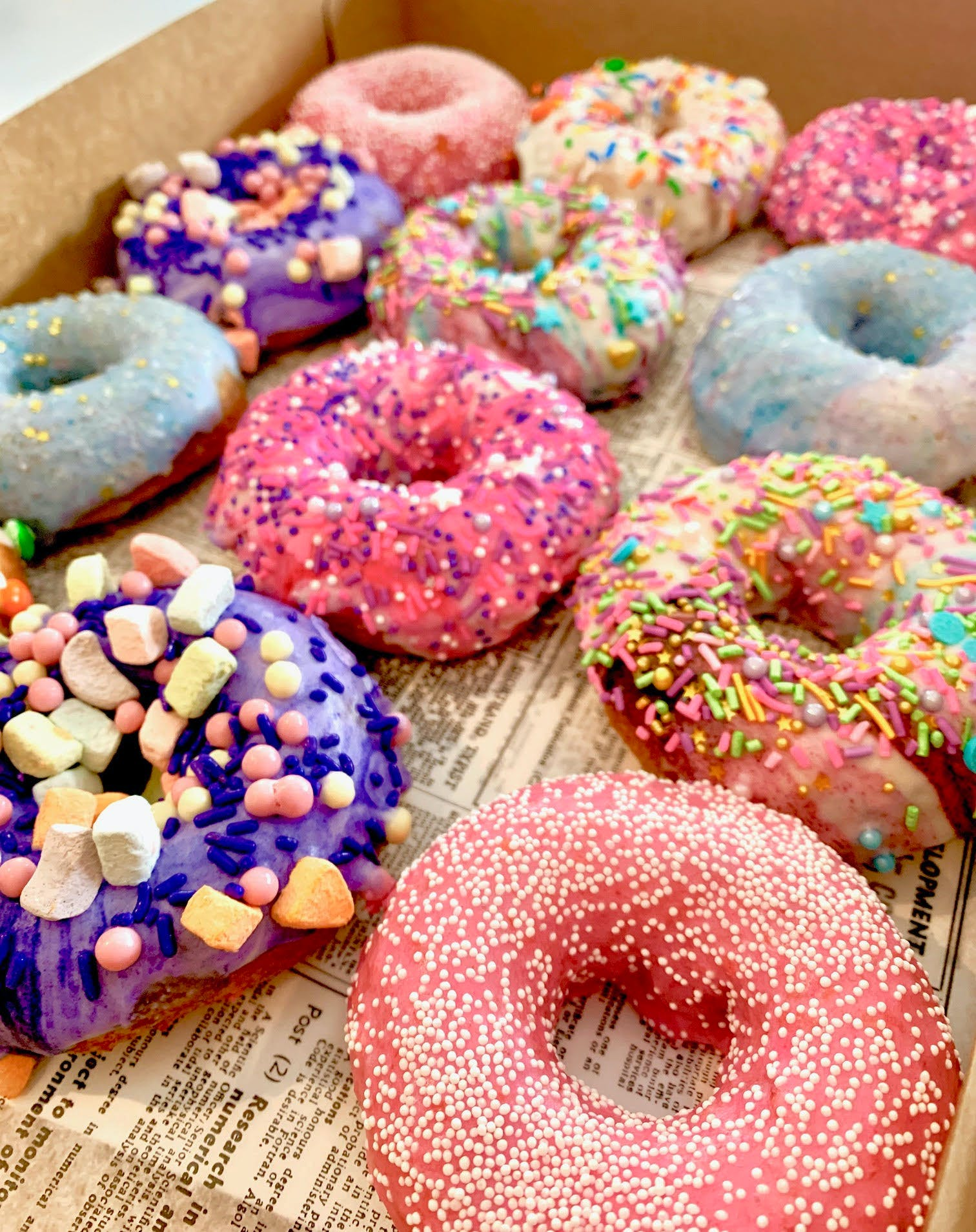 different decorated donuts