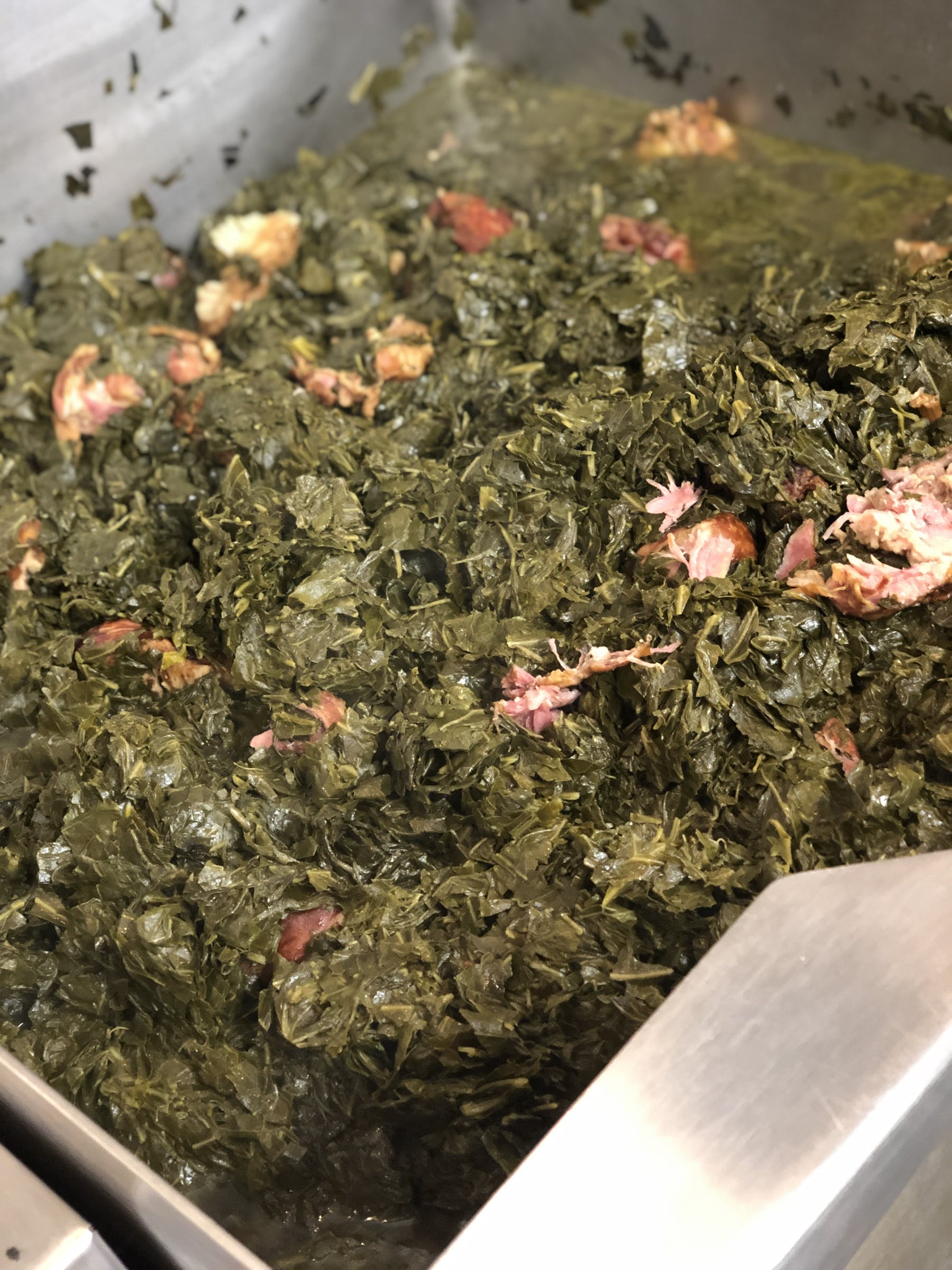 a close up of collard greens