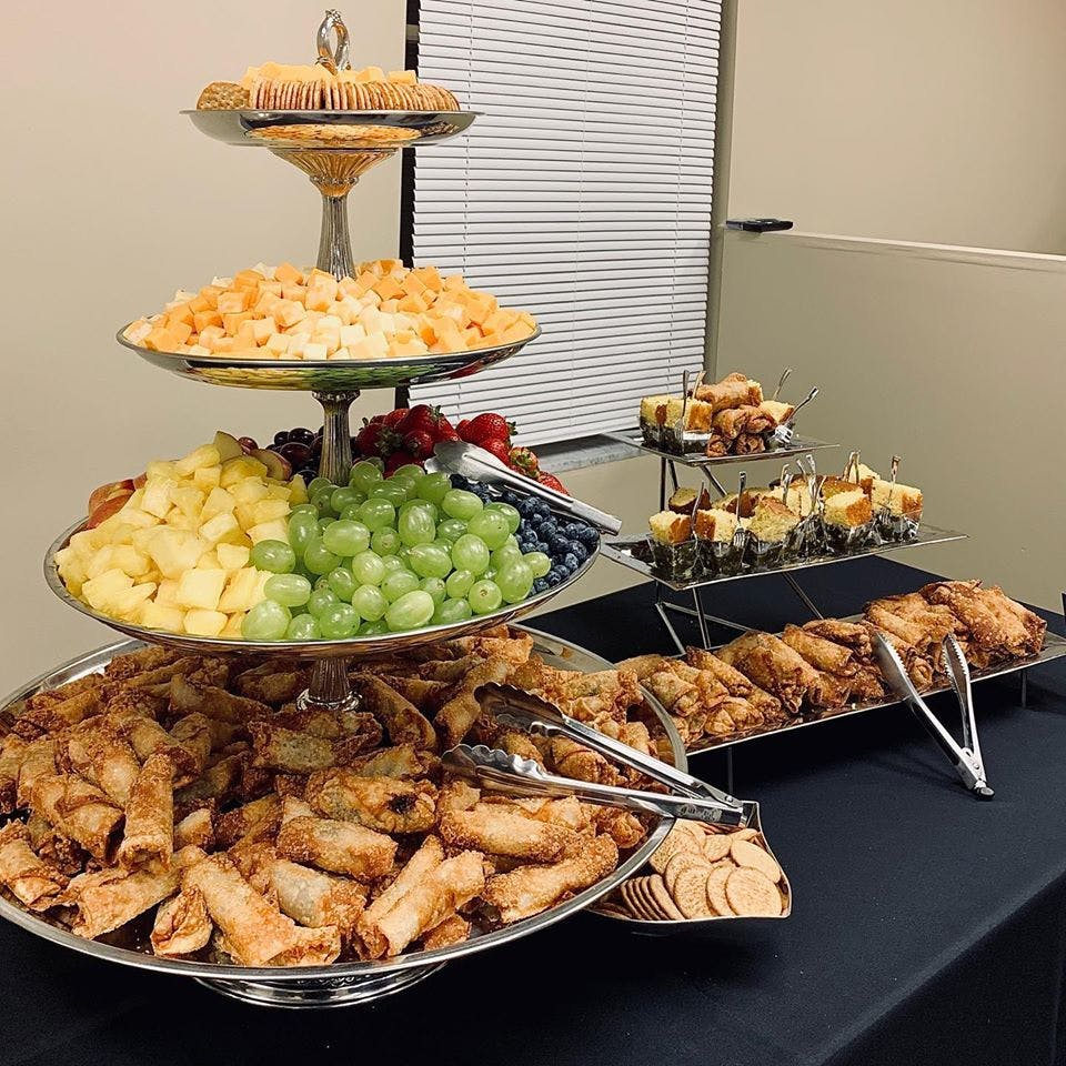 food at an event