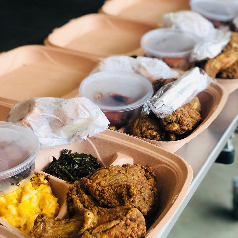 trays of food