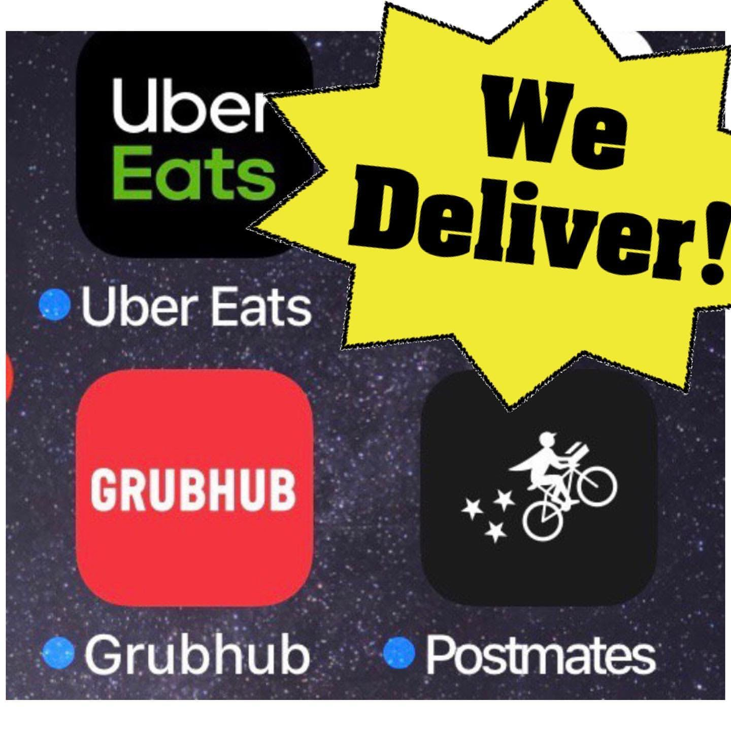 Delivery Grubhub Postmates Uber Eats Door Dash food delivery