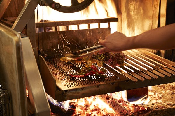 Cooking on Marta's Grillworks grill.