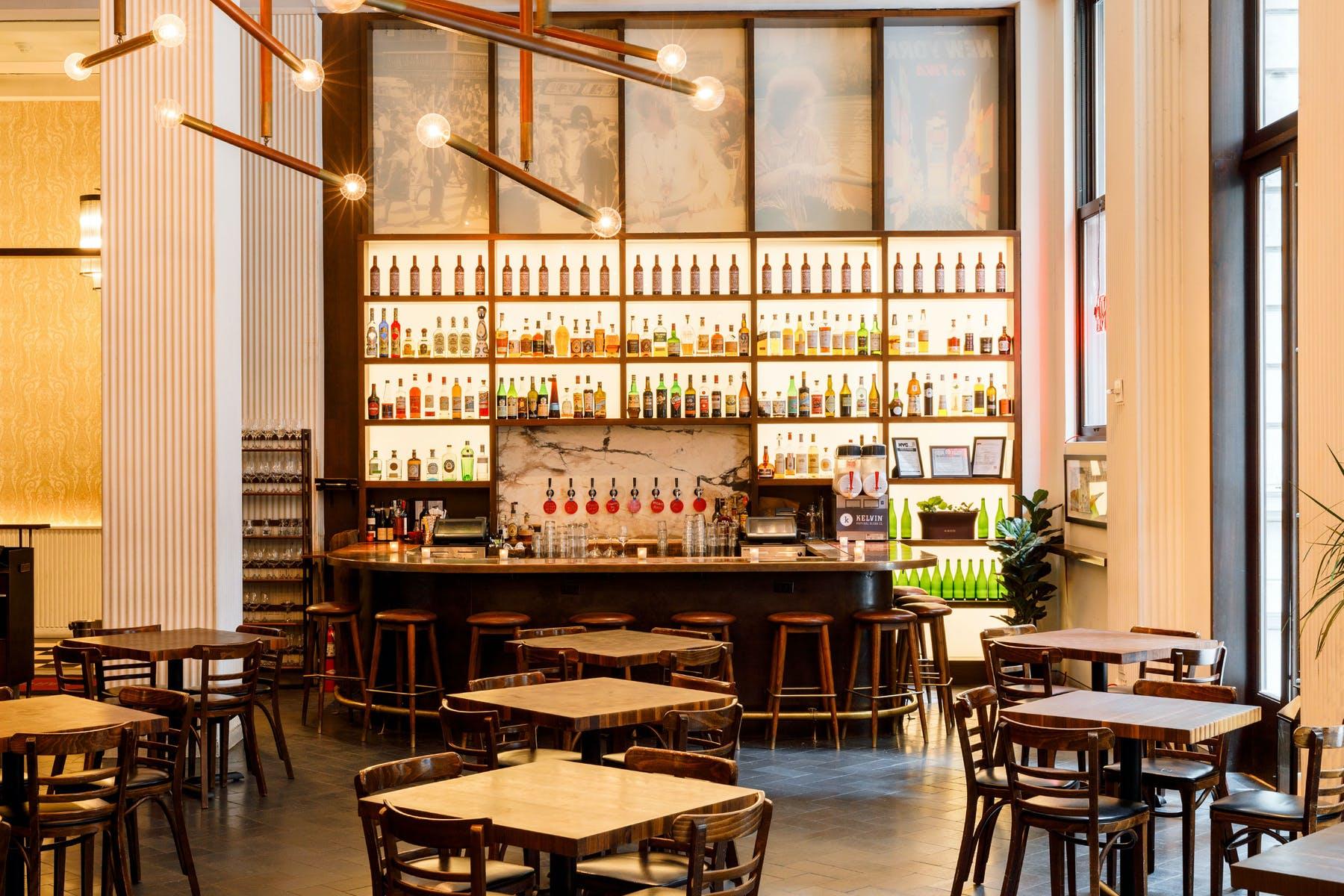 The dining room at Marta
