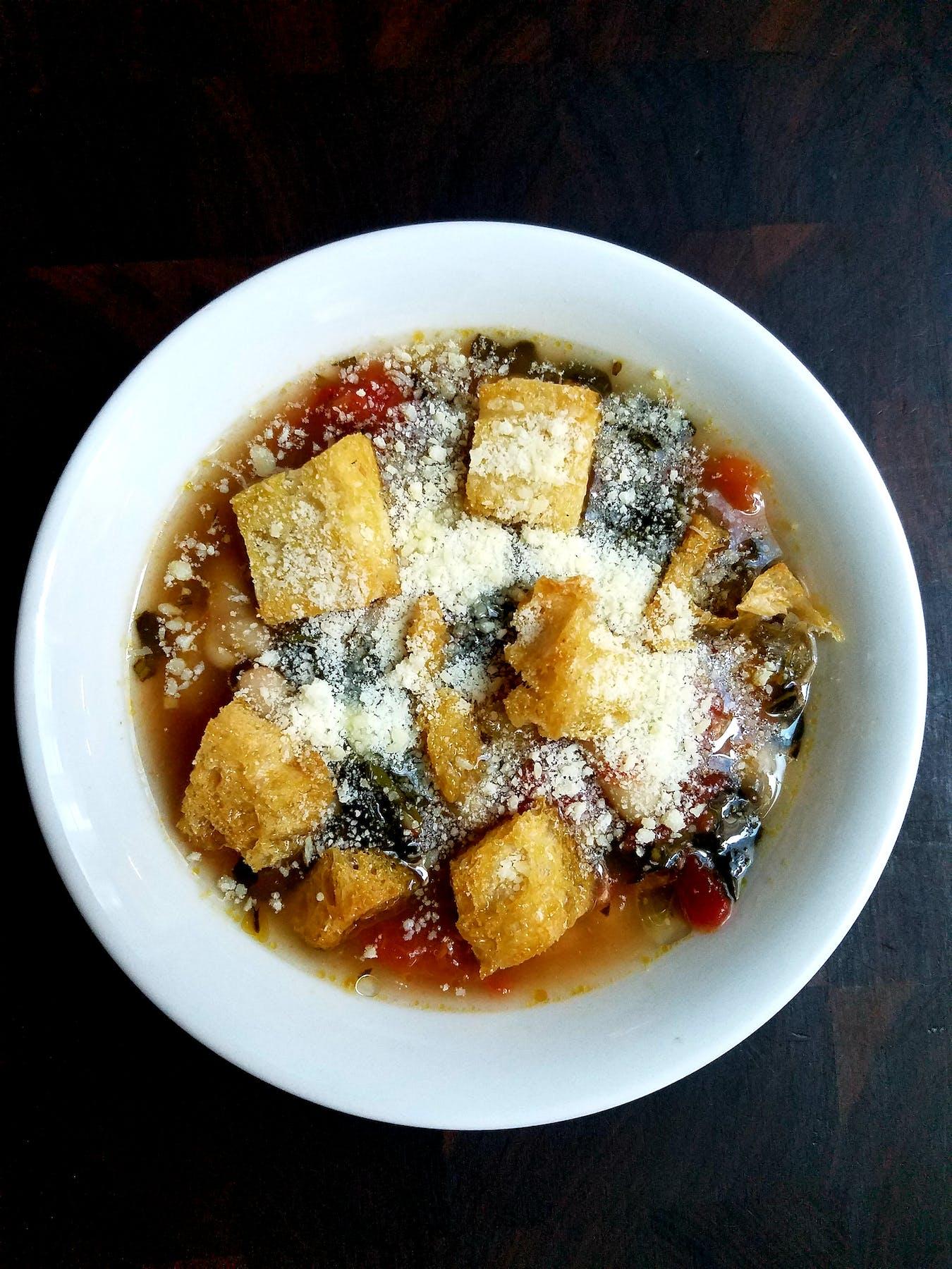 a bowl of ribollita soup