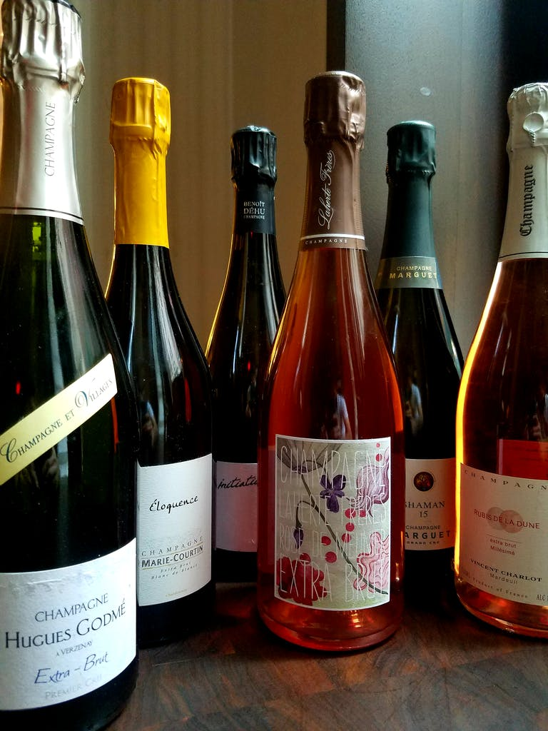 a six pack of sparkling wines