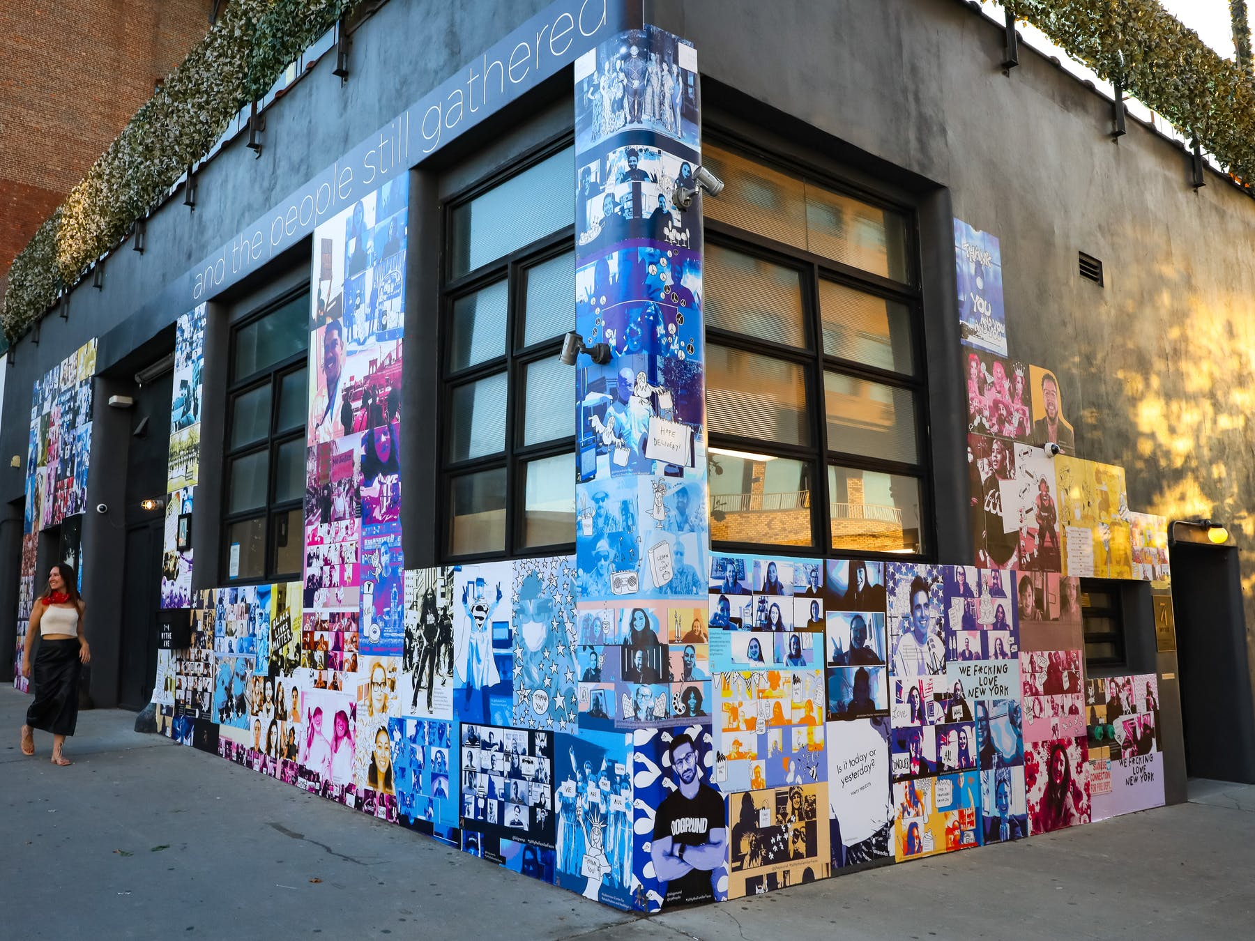a store front with graffiti on the side of a building