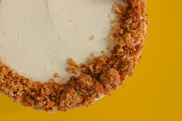 a half eaten piece of cake