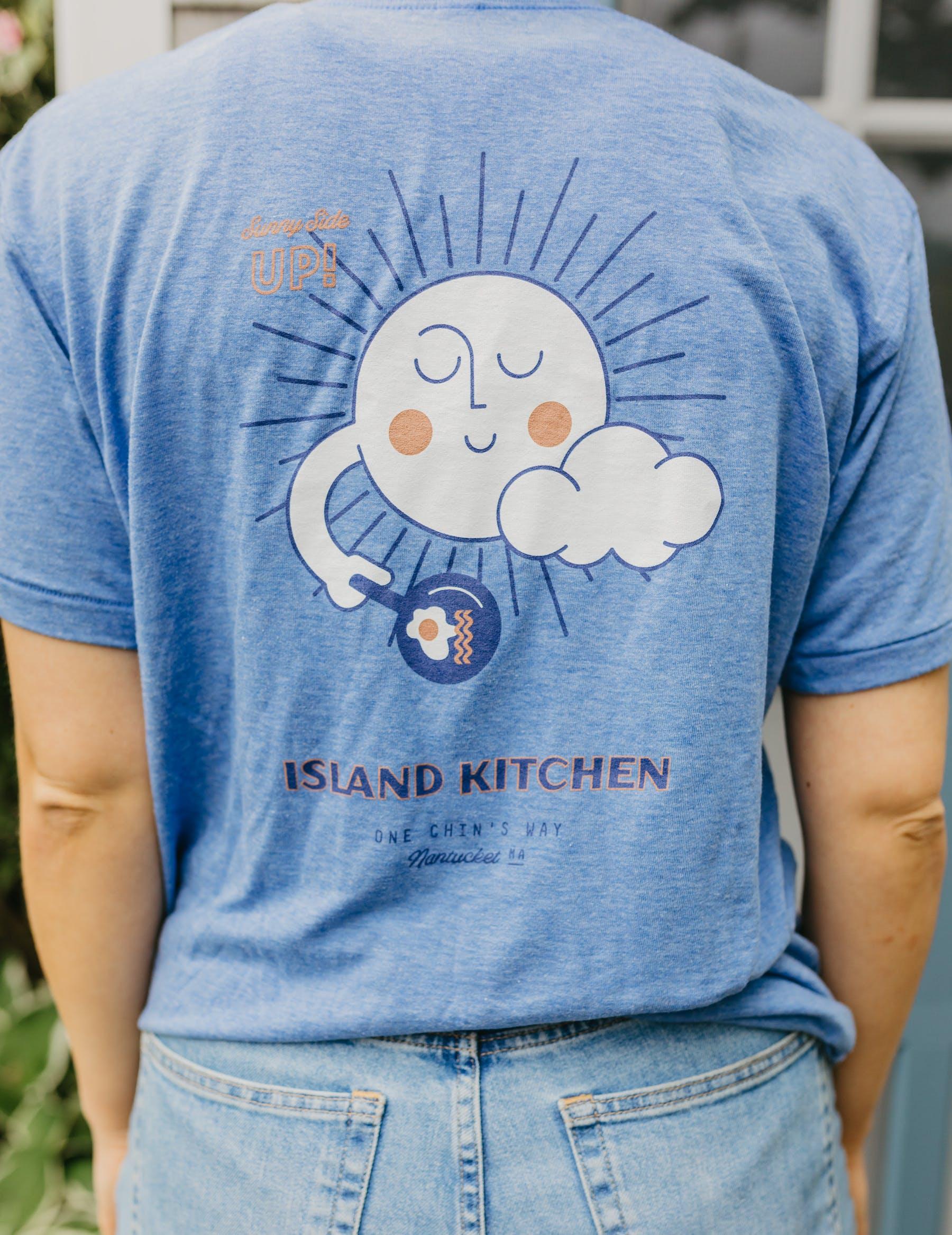 a man wearing a blue shirt