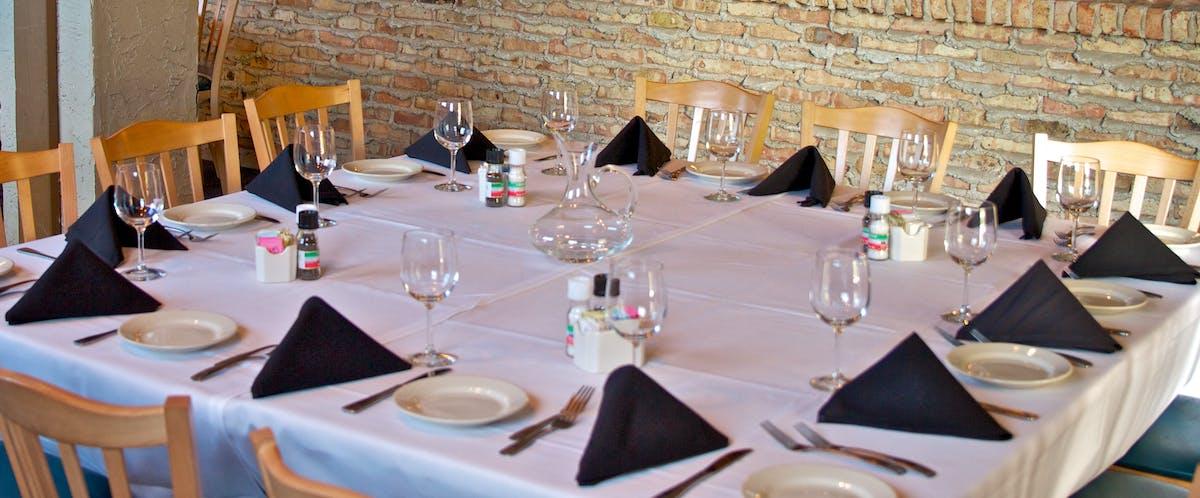 a prepared table