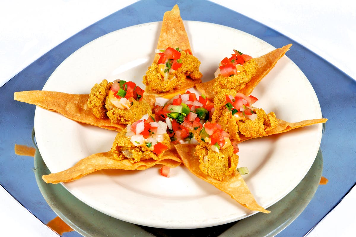 a closeup of some nachos