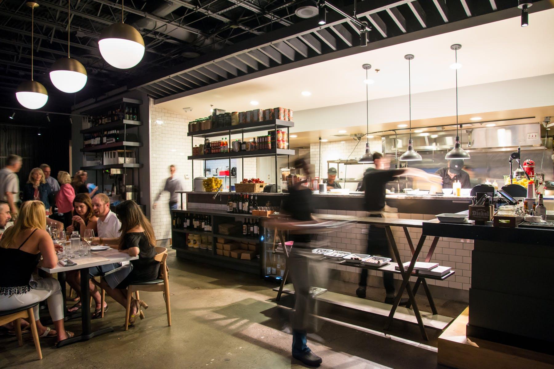 Open exhibition style kitchen
