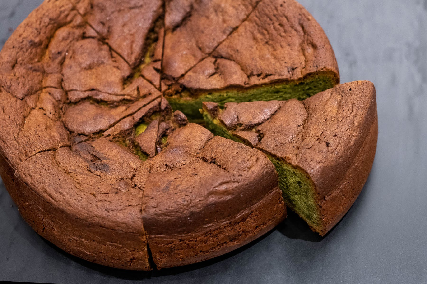 whole matcha chocolate cake