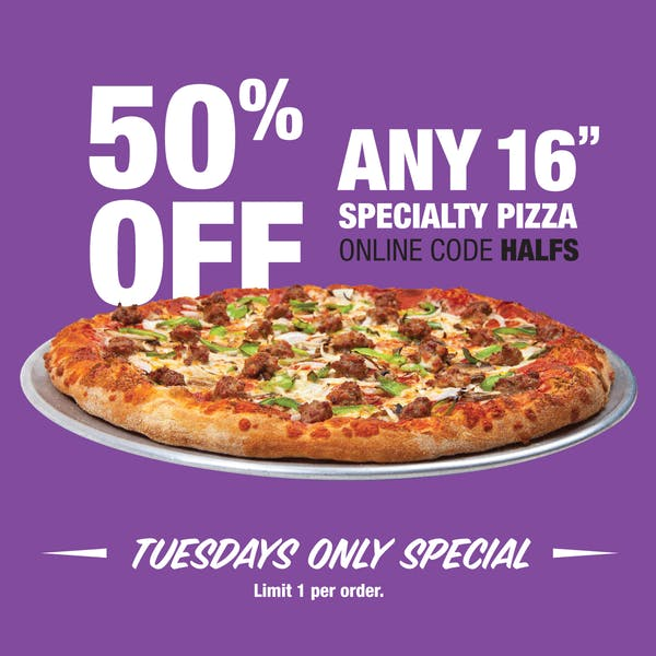1/2 off pizza deal in brookfield