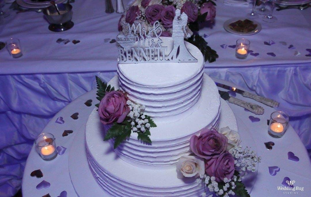 close up of a wedding cake