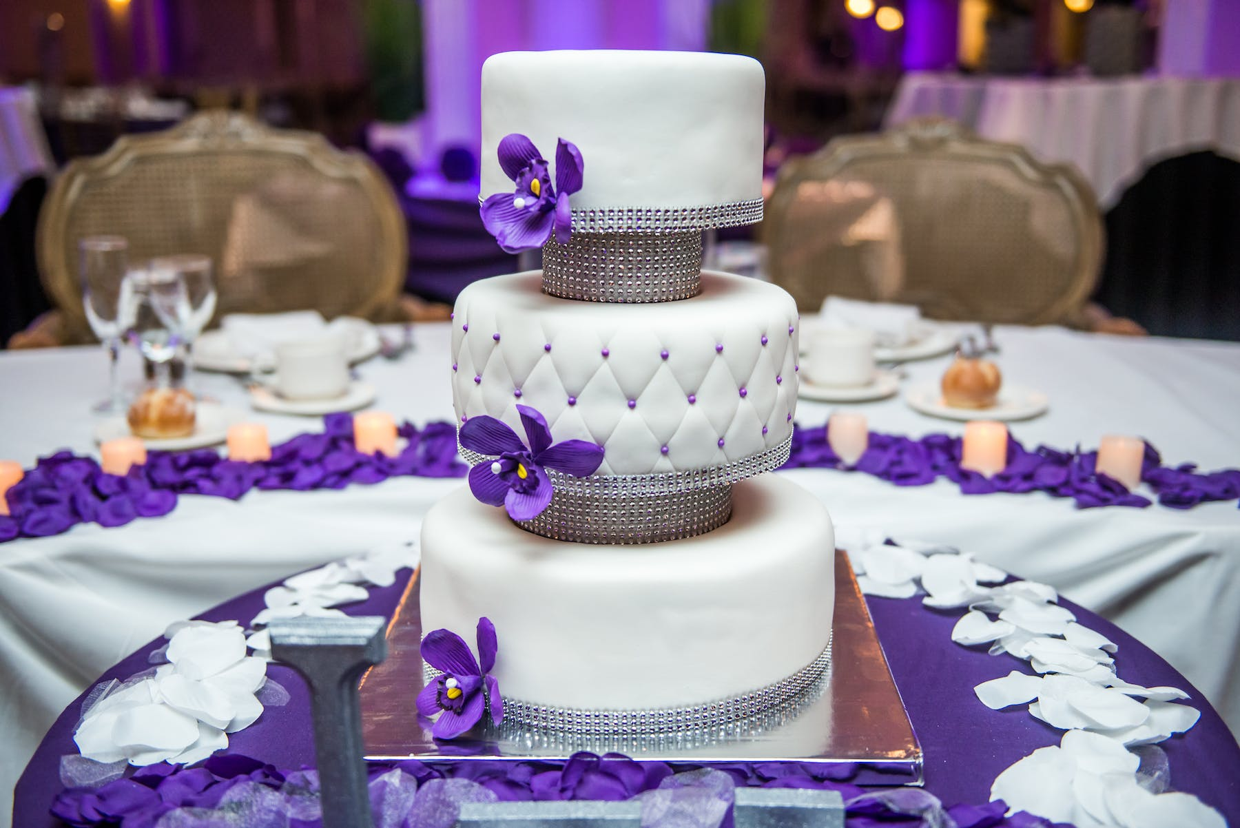 a decorated cake on a table