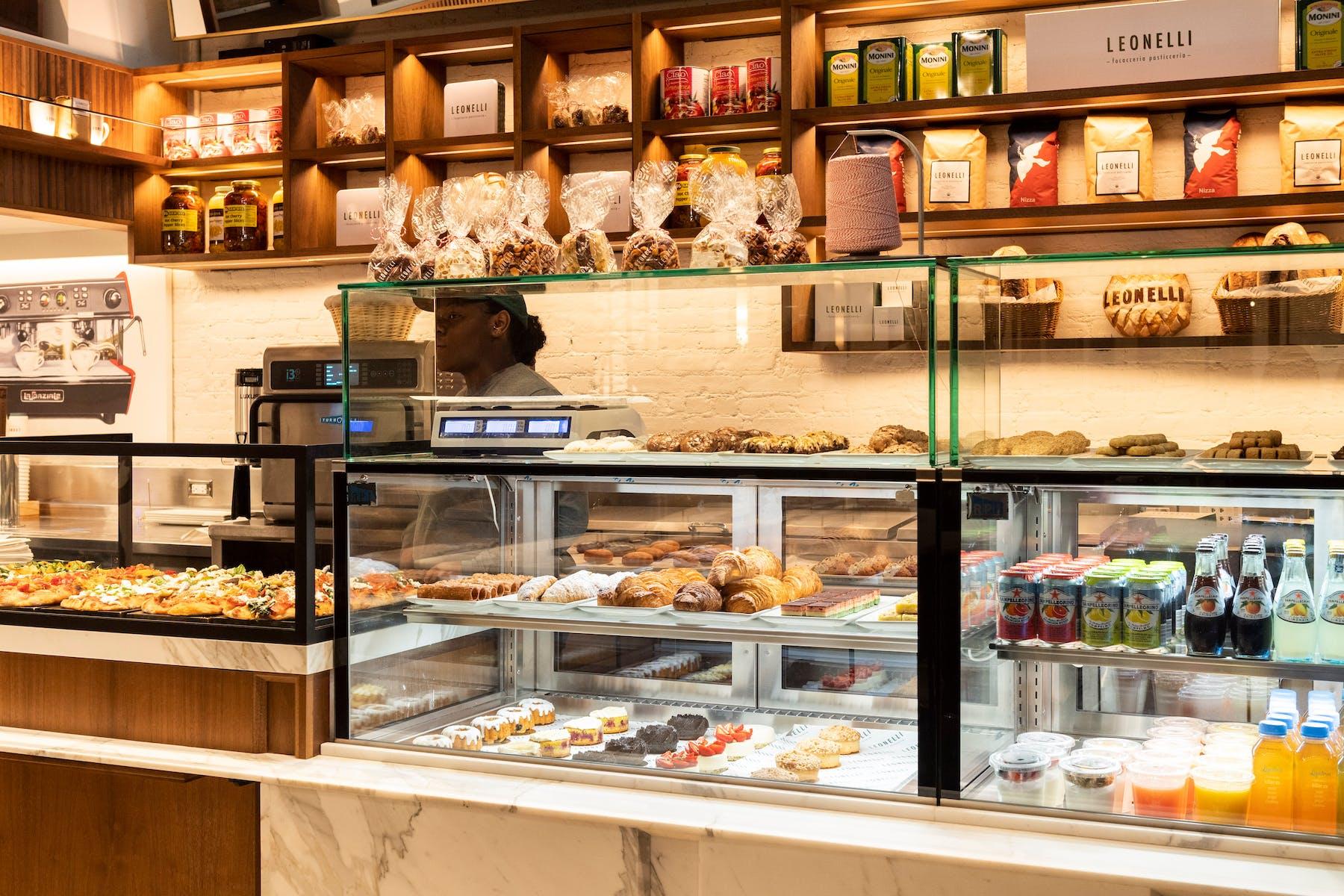 Leonelli Focacceria e Pasticceria Interior Baked Goods NYC