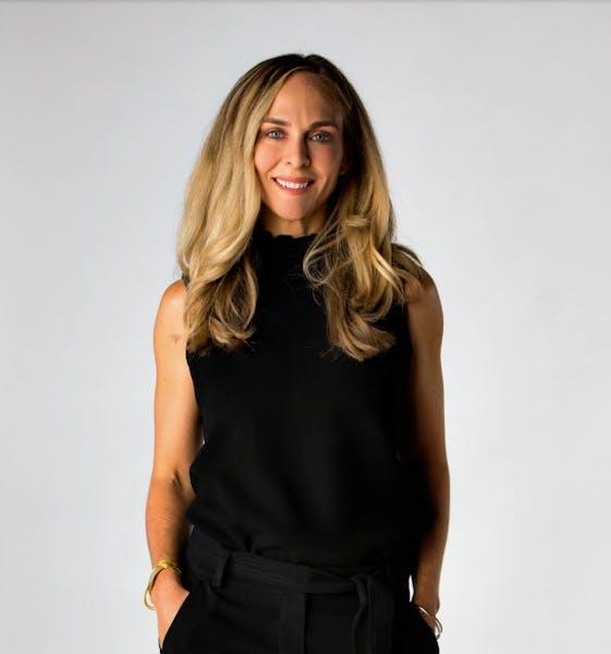 a woman wearing a black shirt