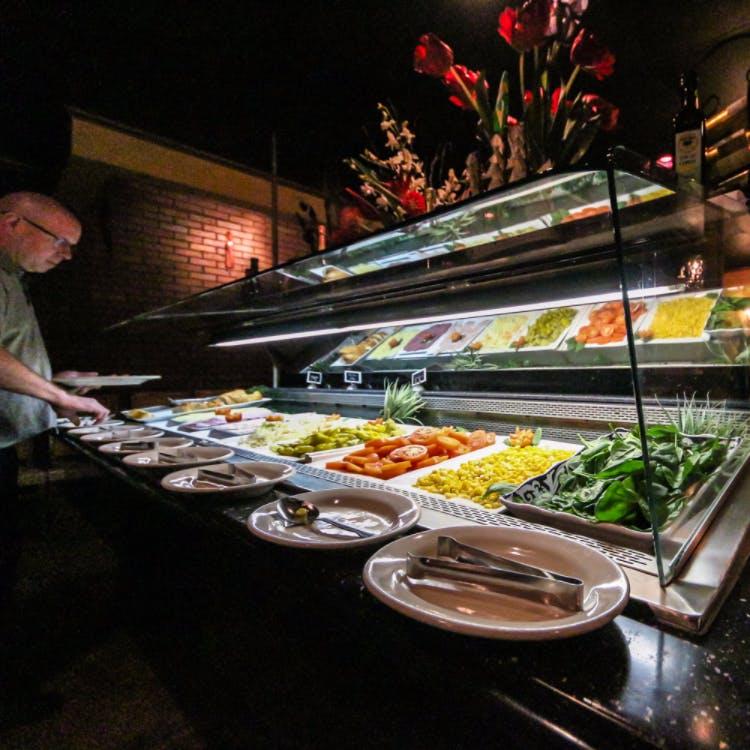 food on trays
