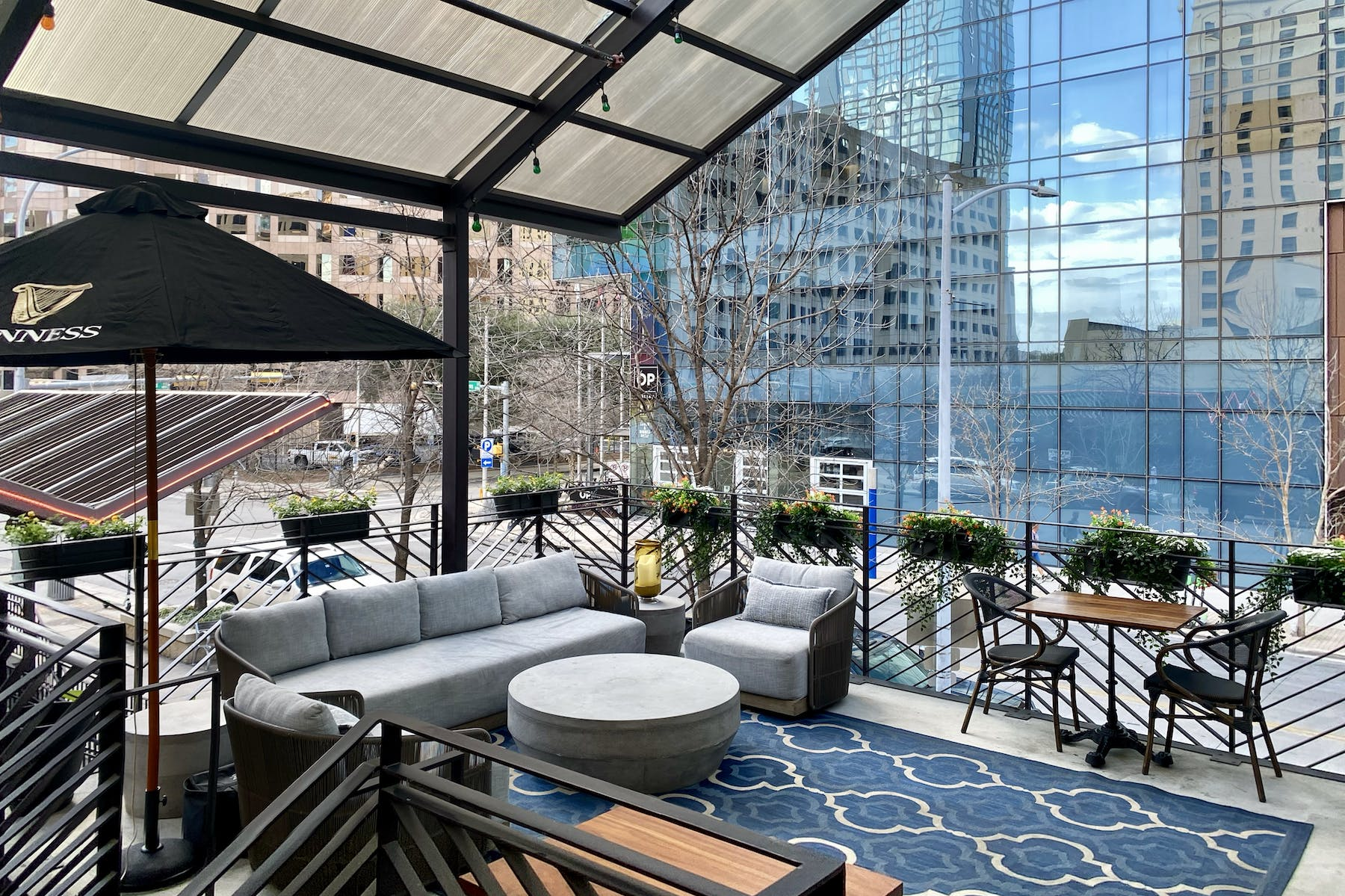 outdoor lounge event space