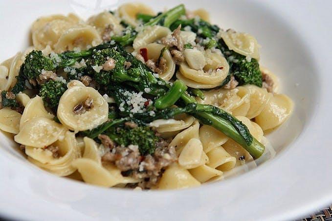 Orecchiette Broccoli Rabe & Sausage