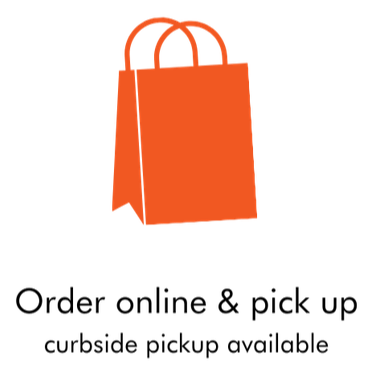 order online and pick up - a takeout bag illustration