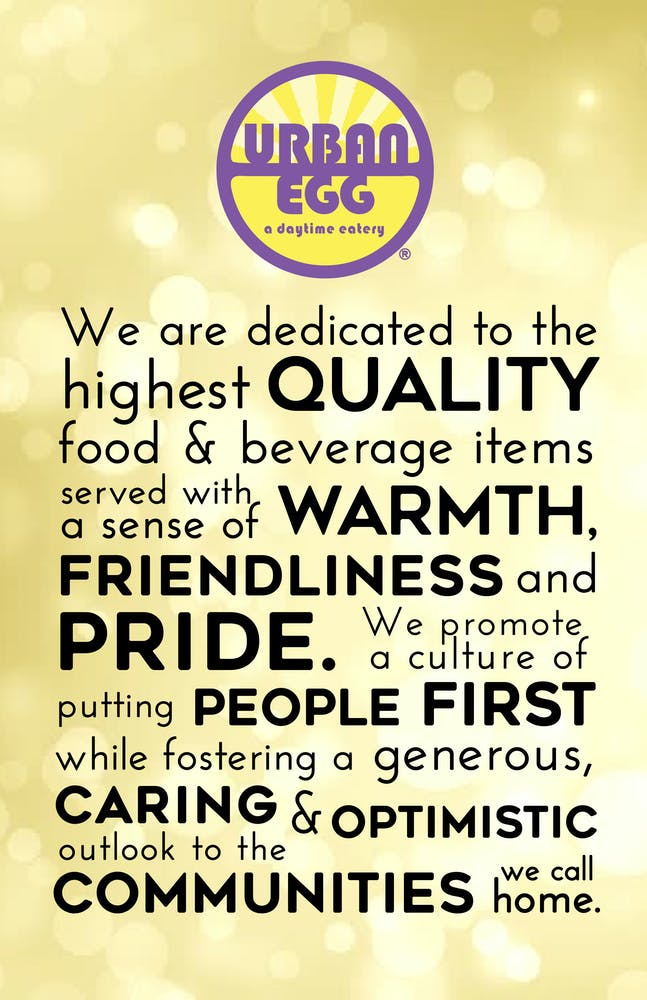 Why Statement for Urban Egg with Logo