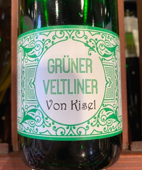 a bottle of Gruner Veltliner