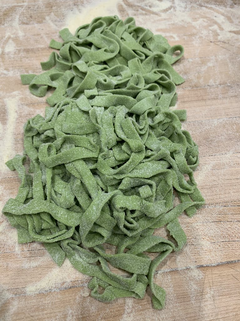 Green Garlic Fettuccine