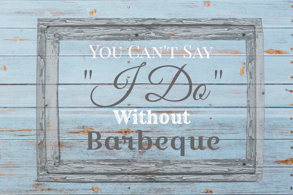 a sign about barbecue