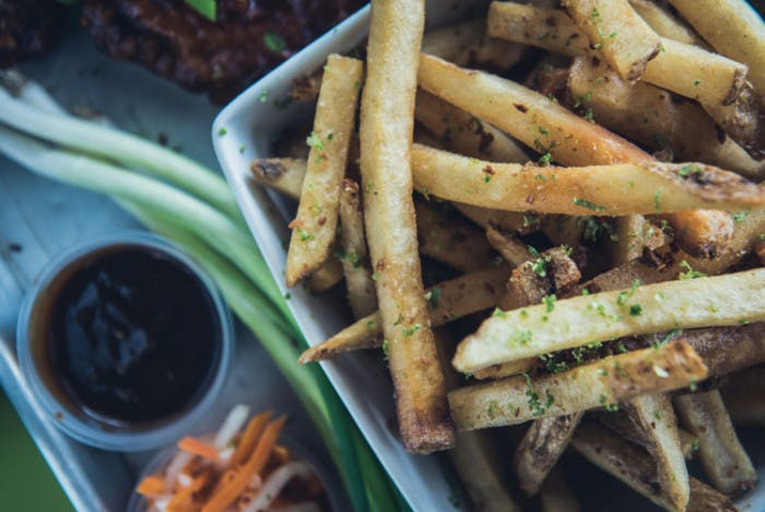 a pile of fries