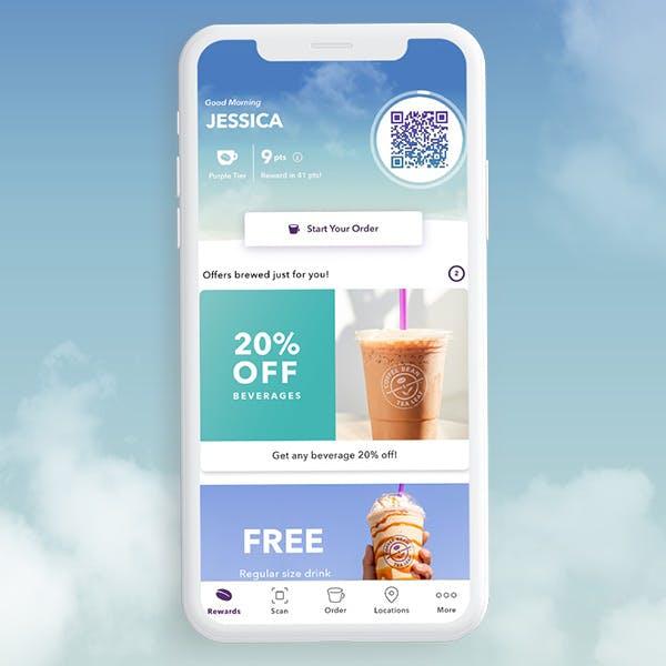 coffee bean app screenshot of phone