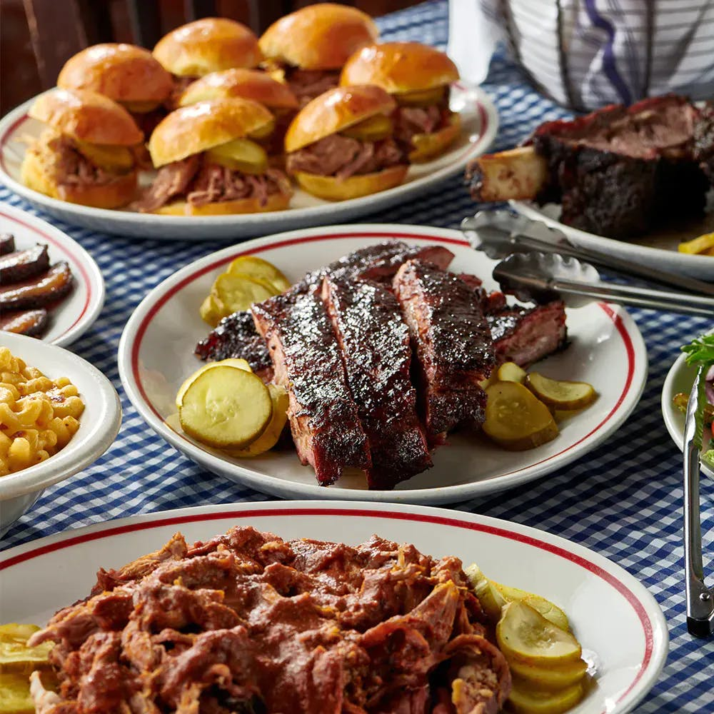 Blue Smoke Barbecue on a plate