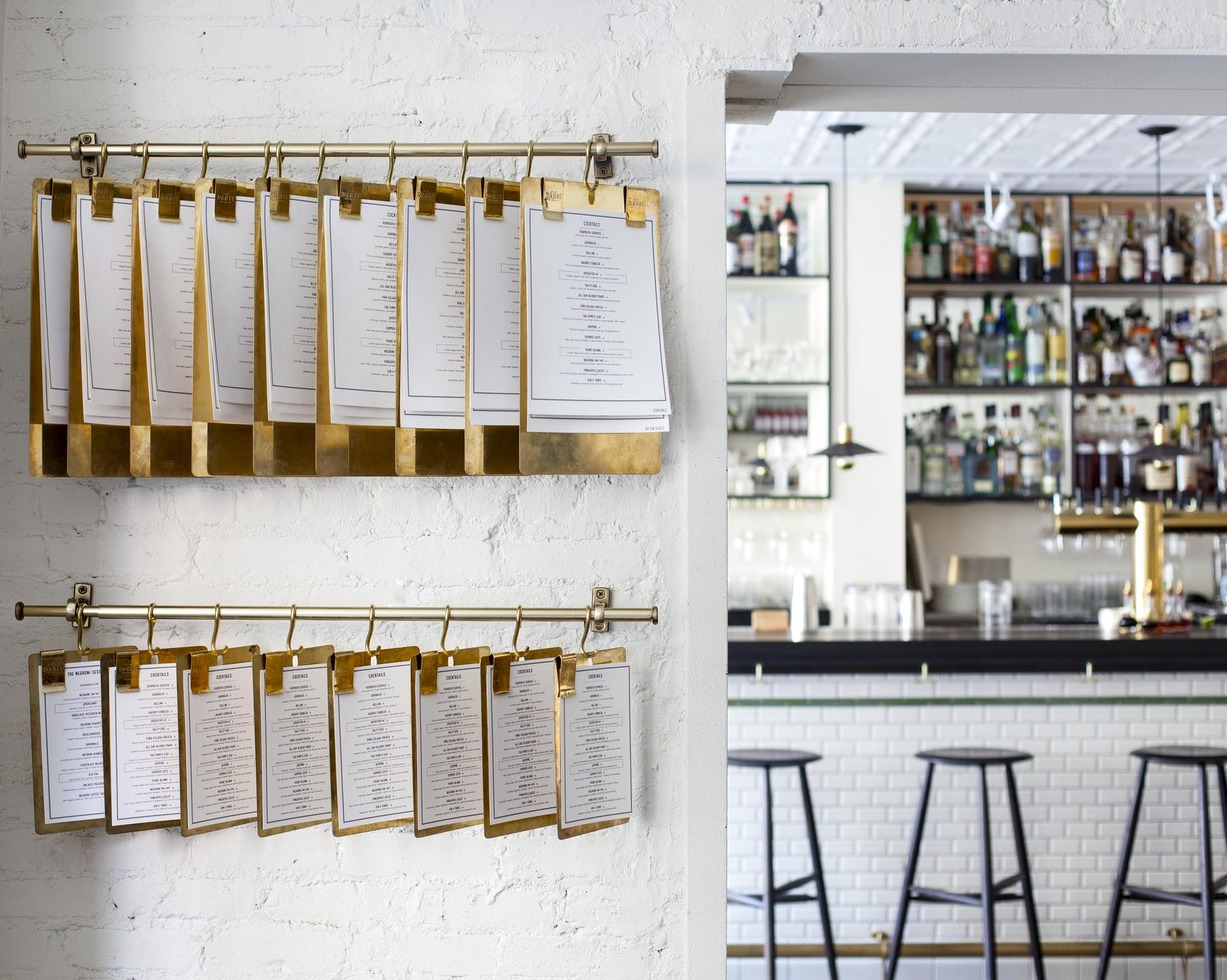 menus on the wall